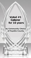 #1 Caterer for 16 years