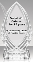 #1 Caterer for 17 years